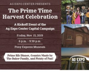 Ag Expo's Prime Time Harvest Celebration aims to raise money for a state-of-the-art arena in St. Joseph, Missouri.