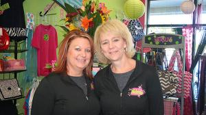Melanie Houser and Jaime Bretz are the creatives behind St. Louis's Shirtabulous, a custom clothing shop.