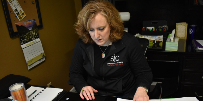 SJC's president and CEO, Susan Campbell, spearheads creative efforts and solid marketing strategies with her experience.