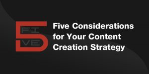 It's not enough just to be on social media anymore. You need a full content creation strategy that drives growth.