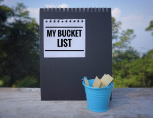 Revisiting your bucket list can help you brainstorm inspiring goals for 2021.