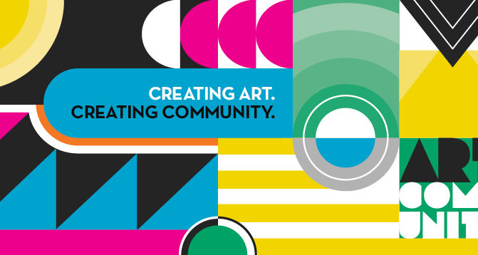 When creating marketing materials for the Allied Arts Council, SJC Marketing embraced their vibrant brand.
