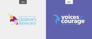 SJC Marketing created a new logo design to more clearly communicate Voices of Courage's mission and audience.