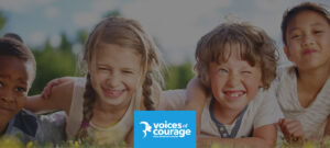 Visual choice is key in branding for a nonprofit like Voices of Courage that advocates for children's safety and well-being.