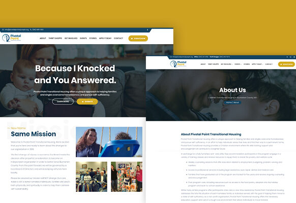 SJC Marketing has helped many nonprofits expand their footprint with a new website design and fresh content.