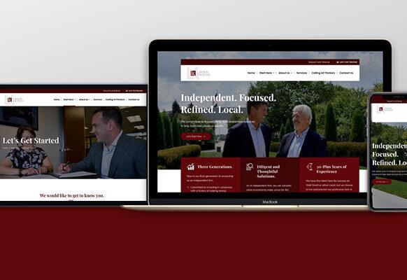 The modern website presence SJC Marketing designed for Lawson Kroeker allows them to connect with a broader range of investors.