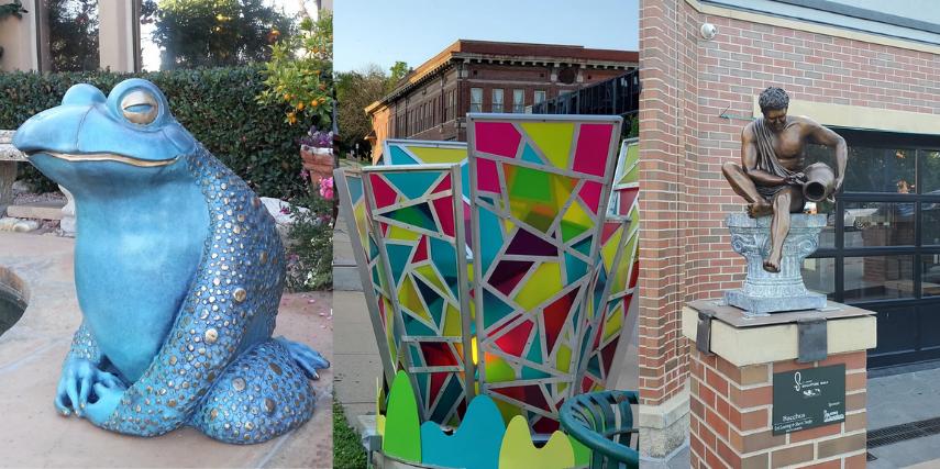 Visitors to the 8th Annual St. Joseph Sculpture Walk enjoy a visual buffet of creativity.
