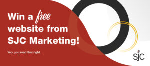 Win a free website from SJC Marketing! Yep, you read that right.