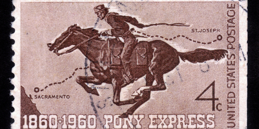 The Pony Express recruited riders less than 125 pounds that could handle a gun in case of danger.
